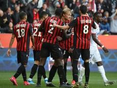 Les compos probables du match de Ligue 1 entre Nice et Brest. AFP