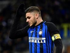 Mauro Icardi podría abandonar el Inter en verano. AFP/Archivo