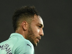 Aubameyang scored Arsenal's winner against Watford. AFP