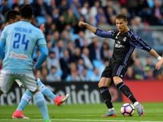 Ronaldo scored a double at Balaidos to bring Real closer to La Liga title. AFP