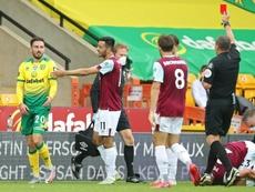 La frustración del Norwich y el sueño del Burnley. AFP