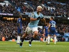 Agüero firmó un histórico 'hat trick'. AFP