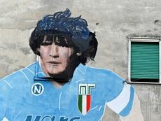 El homenaje a su 'D10S': el Nápoles pide ser Argentina por un día. AFP