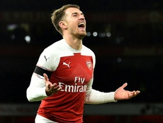 Ramsey is set to sign for Juventus on a free transfer. AFP