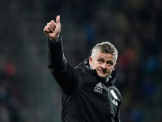 Solskjaer looks towards the derby this weekend. AFP/Archivo