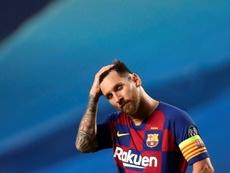Messi está longe de seu melhor momento no Barça. AFP