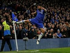 Diego Costa celebrating a goal. AFP