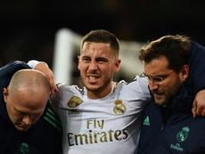 Eden Hazard espère terminer la saison. AFP