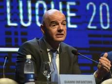 Infantino's proposal will take a backseat until after the World Cup. AFP
