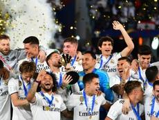 El Madrid, líder de la clasificación. AFP