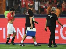 Salah no pudo prolongar su estado de gracia en la Copa África de su país. AFP