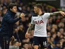 Tottenham Hotspur's manager Mauricio Pochettino defends his club. AFP