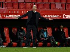 Zidane après la victoire sur Séville. AFP
