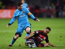 El testigo de lujo de la gran exhibición de Messi en la Champions. AFP