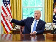 Trump cargó otra vez contra Rapinoe. AFP