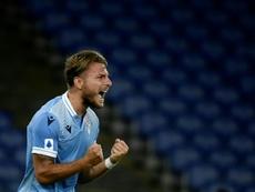 Immobile compte terminer à la Lazio. afp