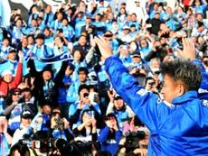 Miura quiere jugar hasta que se muera. AFP