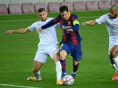 Messi se reinventa. afp