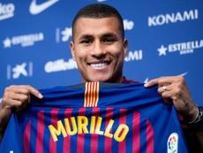 Jeison Murillo, sem lugar no Valencia, está prestes a voltar à Itália. AFP