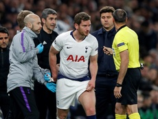 Vertinghen has a contract with Tottenham until the end of the season. AFP