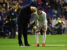 A dúvida sobre a recuperação de Hazard. AFP