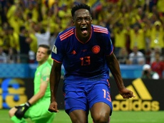 Yerry Mina a rejoint Everton. AFP