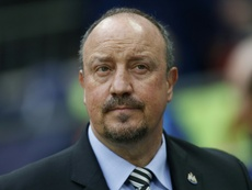 Rafa Benitez was not happy after the game. AFP