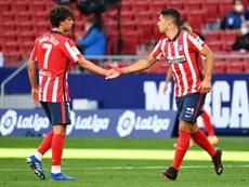 El Atlético se lleva a todos los disponibles para su estreno en la Champions 2020-21. AFP