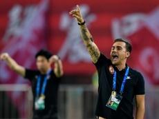 Cannavaro debutó con China con derrota y eliminación. AFP