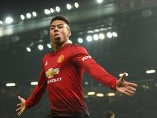 Lingard marcou o gol do Manchester United no empate em 1 a 1 contra o LASK Linz. AFP