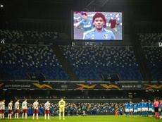 Napoli will change the name of their stadium in honour of Maradona. AFP