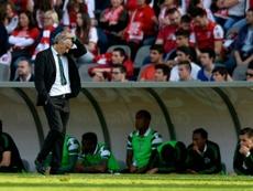 O técnico de 62 anos saiu vitorioso da visita a Braga. AFP