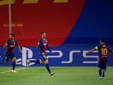 El Barcelona ganó gracias a su enorme pegada. AFP