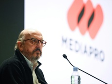 Roures preside Mediapro, que ostenta los derechos televisivos de LaLiga. AFP