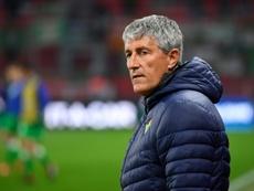 Quique Setién dejó el Betis tras un término de temporada tenso. AFP