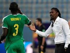 Kalidou Koulibaly ne jouera pas la finale contre l'Algérie. AFP