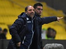 Pablo Correa no seguirá siendo entrenador del Auxerre. AFP