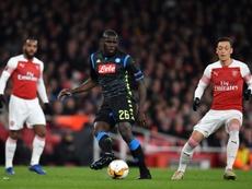 El Nápoles pide 80 'kilos' por Koulibaly. AFP