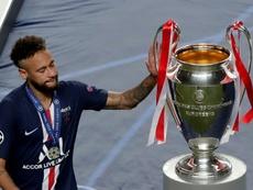 Neymar quer permanecer no PSG segundo a imprensa francesa. AFP