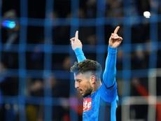 Dries Mertens forfait pour le match contre le Barça. AFP