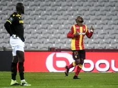 El Lens perdió 0-1 ante el Strasbourg. Archivo/AFP