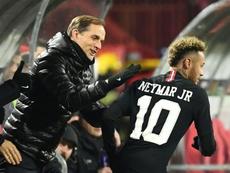 Neymar viajou para o Brasil sem autorização de Thomas Tuchel. AFP