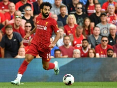 Salah came in fourth place with 26 points. AFP