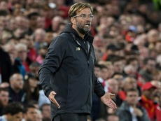 Klopp was not happy with Liverpool's EFL Cup defeat. AFP