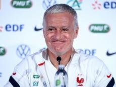 Didier Deschamps réagit au tirage au sort de la Ligue des Nations. afp