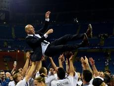 Zidane e a sua volta ao Giuseppe Meazza. AFP