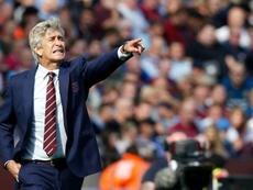 Pellegrini's West Ham won 3-0 away to Newcastle. AFP