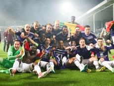 El Anderlecht ha ganado la Supercopa Belga. AFP/Archivo