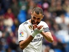 Benzema has increased his goalscoring tally this season. AFP