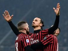 Milan está prestes a renovar com Ibra. AFP